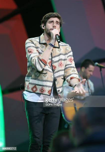 Singer Alvaro Soler during the concert in Opole Polish and world music stars sang at a concert in Opole The concert was organized to celebrate the...