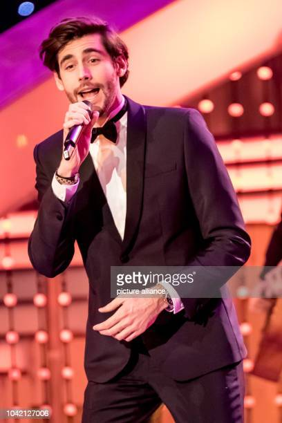 Singer Alvaro Soler during the TV Show 'Hit Champions Great party of the best' at the Velodrom in Berlin Germany 7 January 2017 Photo Andreas...