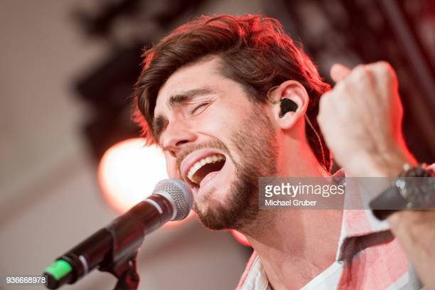 Singer Alvaro Soler performs during the Launch POP event on the occasion of the 20th anniversary of the Peek Cloppenburg store at Weltstadthaus on...