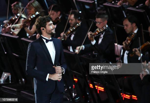 Singer Alvaro Soler performs during the Vatican Christmas Concert at the Paul VI Hall on December 15 2018 in Vatican City Vatican