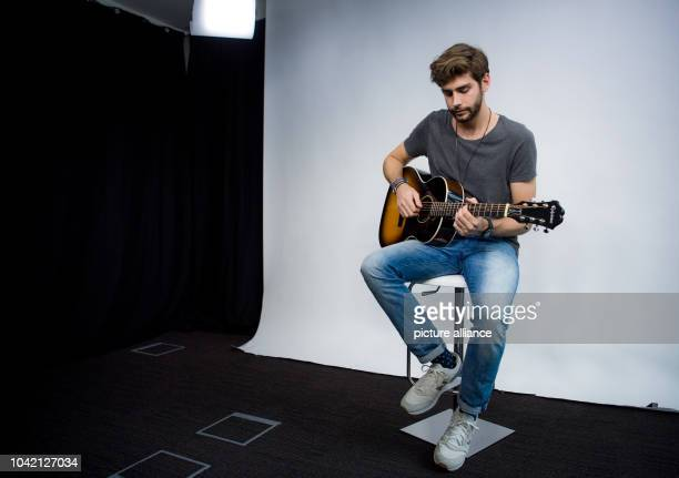 Singer Alvaro Soler playing his guitar in Berlin Germany 8 July 2016 The GermanSpanish performer is already a star in Italy and now wants to get...
