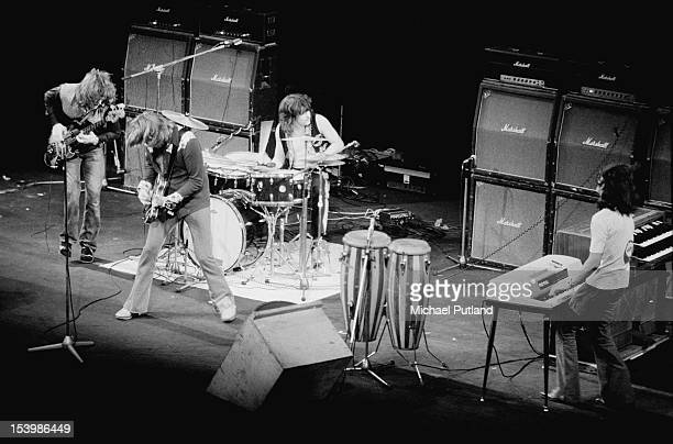 Singer Alvin Lee in concert at the London Coliseum with English bluesrock band Ten Years After 19th September 1971