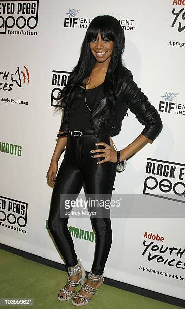 Singer Alycia Bellamy arrives at the 5th Annual Black Eyed Peas Peapod Foundation Benefit Concert at The Conga Room on February 5 2009 in Los Angeles...