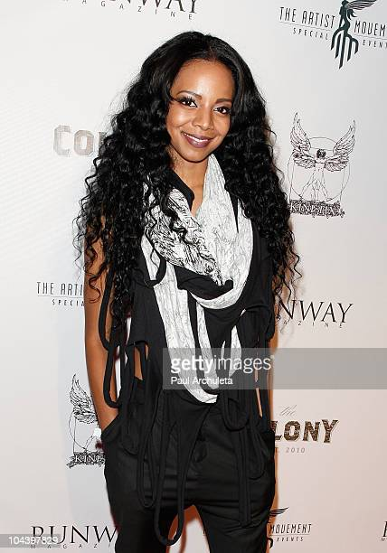 Singer Alycia Bellamy arrives at the Runway Magazine Fall issue release party at The Colony on September 23 2010 in Los Angeles California