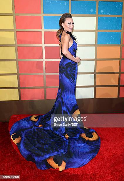 Singer Alyson Cambridge attends the 2014 Soul Train Music Awards at the Orleans Arena on November 7 2014 in Las Vegas Nevada