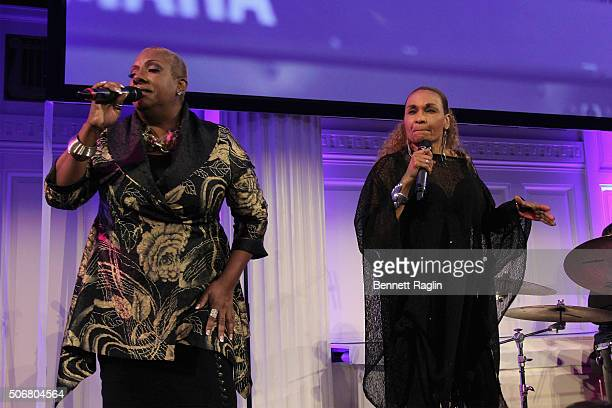Singer Alyson Williams and Vivian Reed perform onstage during 'For the Love Of Our Children Gala' hosted by the National CARES Mentoring Movement on...