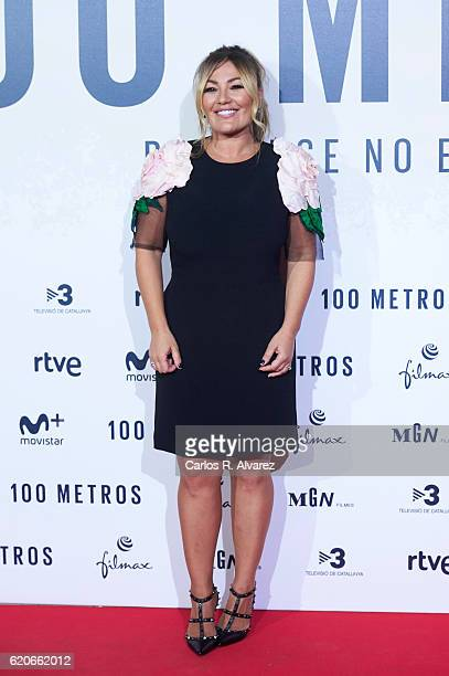 Singer Amaia Montero attends '100 Metros' premiere at Capitol cinema on November 2 2016 in Madrid Spain
