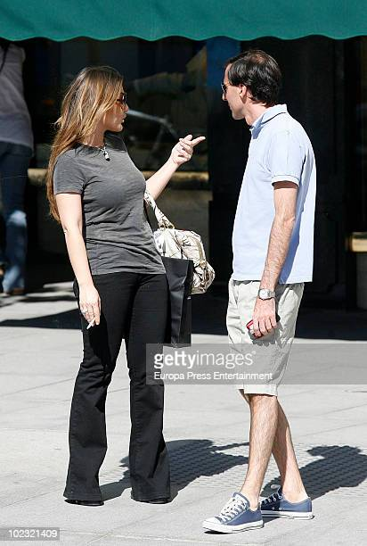 Singer Amaia Montero is seen with a friend on June 23 2010 in Madrid Spain