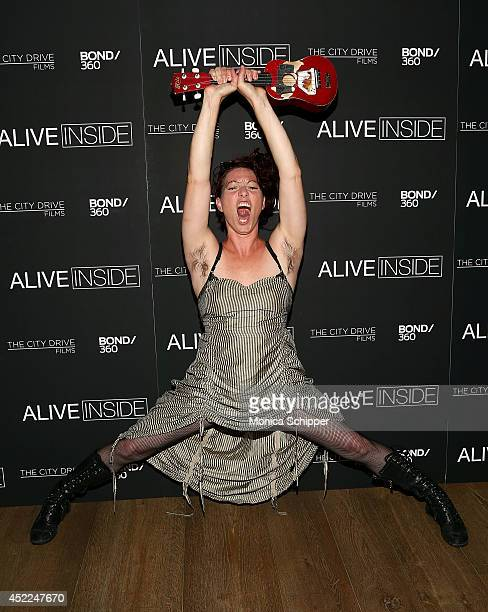 Singer Amanda Palmer attends the Alive Inside premiere at Crosby Street Hotel on July 16 2014 in New York City