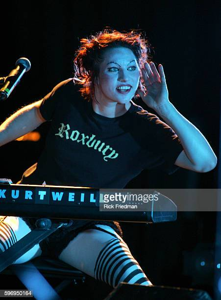 Singer Amanda Palmer of the Dreden Dolls performing at the Orpheum Theatre in Boston Massachusetts
