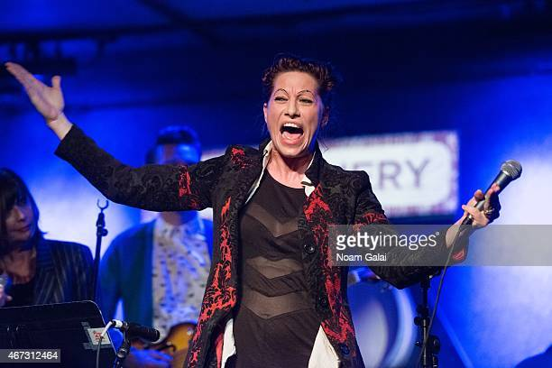 Singer Amanda Palmer performs at The Music Of David Byrne and Talking Heads preshow at City Winery on March 22 2015 in New York City