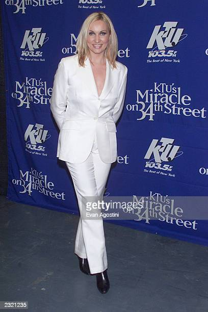 Singer Amber backstage at 'KTU's Miracle On 34th Street' holiday concert at Madison Square Garden in New York City. . Photo: Evan Agostini/ImageDirect