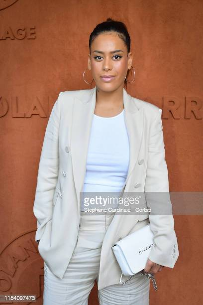 Singer Amel Bent attends the 2019 French Tennis Open Day Twelve at Roland Garros on June 06 2019 in Paris France