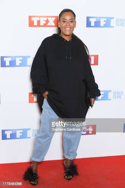 Singer Amel Bent attends the Groupe TF1 Photocall At Palais De Tokyo on September 09 2019 in Paris France