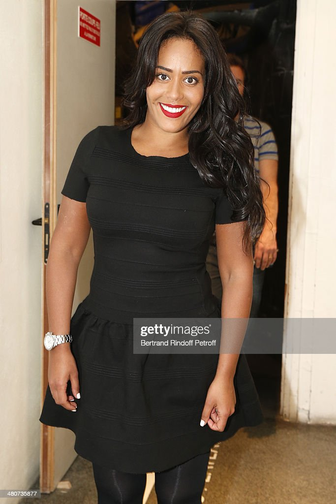 Singer Amel Bent poses backstage during the recording of Drucker's 'Vivement Dimanche' weekly show at Pavillon Gabriel on March 26, 2014 in Paris, France. Bent is promoting her latest album 'Instinct'.
