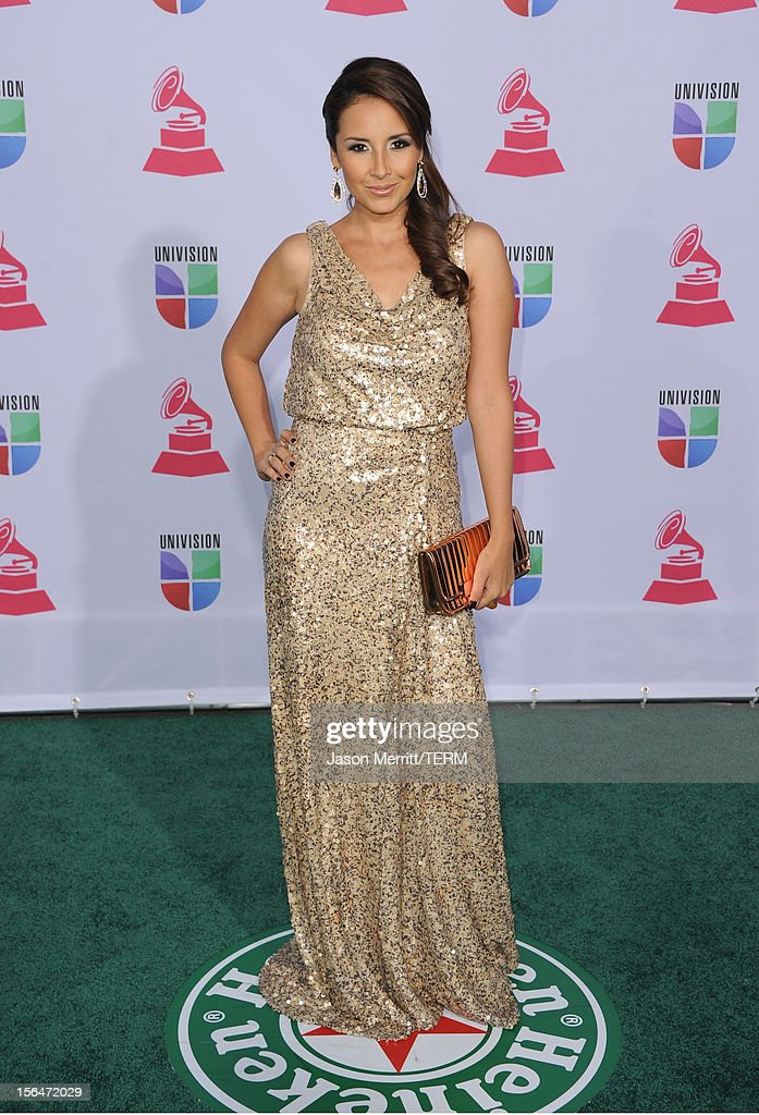 Singer America Sierra arrives at the 13th annual Latin GRAMMY Awards held at the Mandalay Bay Events Center on November 15, 2012 in Las Vegas, Nevada.