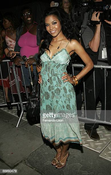 Singer Amerie attends day 8 of Olympus Fashion Week Spring 2006 at Bryant Park September 16 2005 in New York City