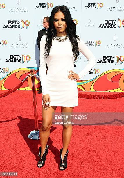 Singer Amerie attends the 2009 BET Awards at The Shrine Auditorium on June 28 2009 in Los Angeles California