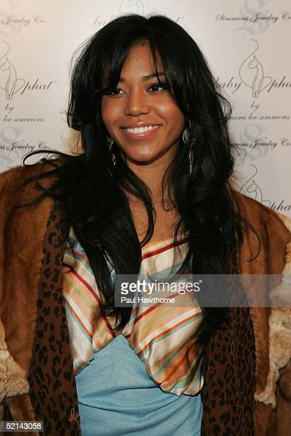 Singer Amerie attends the Baby Phat Pre Party during Olympus Fashion Week at Skylight February 5 2005 in New York City