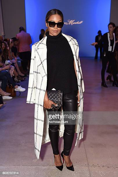 Singer Amerie attends the Leanne Marshal fashion show during New York Fashion Week September 2016 at The Gallery Skylight at Clarkson Sq on September...