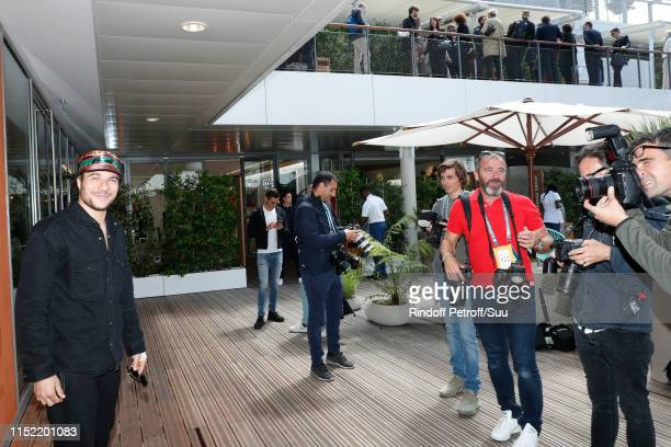 Singer Amir attends the 2019 French Tennis Open - Day Three at Roland Garros on May 28, 2019 in Paris, France.