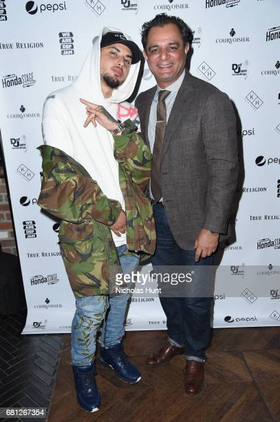Singer Amir Obe and Def Jam General Manager Faisel Durrani the 2017 Def Jam Upfronts presented by Honda Stage Pepsi Courvoisier and True Religion at...