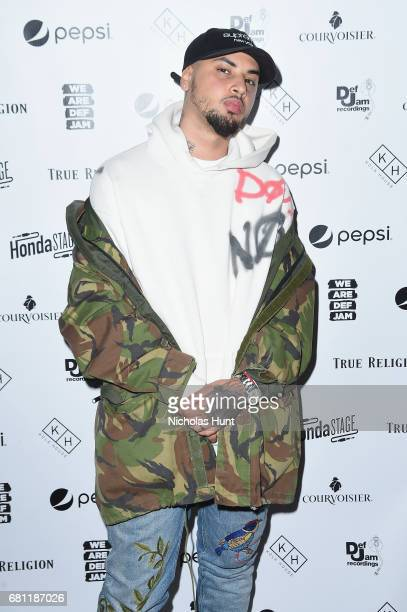 Singer Amir Obe attends the 2017 Def Jam Upfronts presented by Honda Stage Pepsi Courvoisier and True Religion at Kola House NYC on May 9 2017 in New...