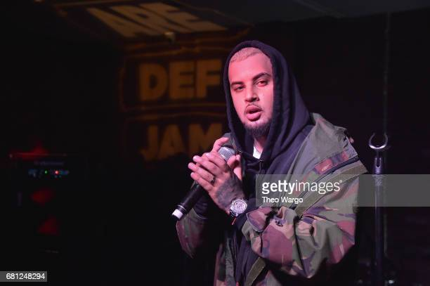 Singer Amir Obe performs at the 2017 Def Jam Upfronts presented by Honda Stage Pepsi Courvoisier and True Religion at Kola House NYC on May 9 2017 in...
