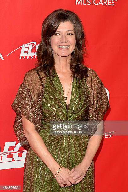 Singer Amy Grant attends The 2014 MusiCares Person Of The Year Gala Honoring Carole King at Los Angeles Convention Center on January 24 2014 in Los...