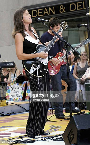 Singer Amy Grant performs on NBC's Today Show Summer Concert Series at Rockefeller Center on August 22 2003 in New York City Her new album is...