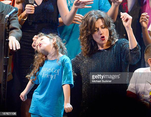 Singer Amy Grant performs onstage during a celebration of Carole King and her music to benefit Paul Newman's The Painted Turtle Camp at the Dolby...