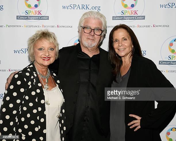 Singer Amy Holland McDonald, musician Michael McDonald and weSpark Director of Development Marlene McGuirt attend the weSpark Cancer Support Center...