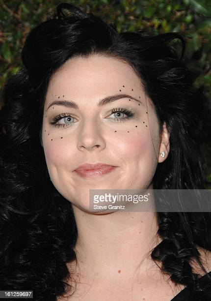 Singer Amy Lee arrives at Spike TV's 'Scream 2007' held at The Greek Theatre on October 19 2007 in Los Angeles California