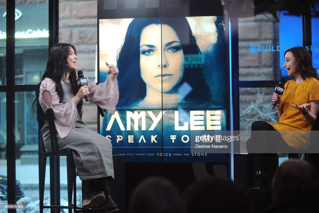 Singer Amy Lee (L) attends Build Series to discuss her new single 'Speak to Me' at Build Studio on March 20, 2017 in New York City.