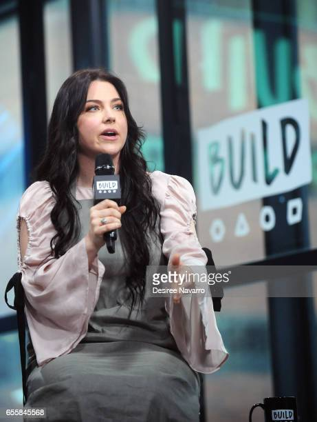 Singer Amy Lee attends Build Series to discuss her new single 'Speak to Me' at Build Studio on March 20 2017 in New York City