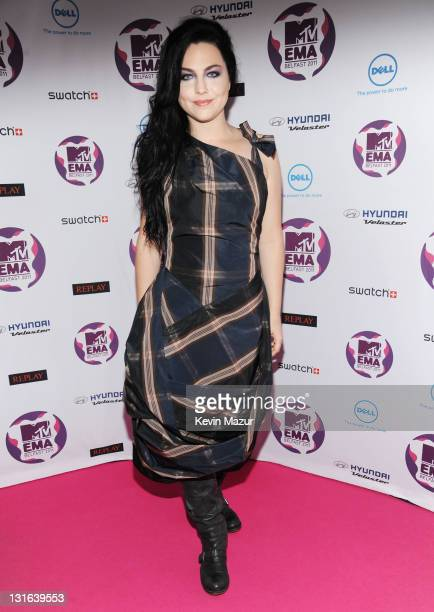 Singer Amy Lee attends the MTV Europe Music Awards 2011 at the Odyssey Arena on November 6 2011 in Belfast Northern Ireland