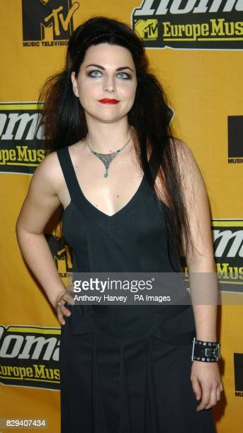 Singer Amy Lee from Evanescence arrives for the 11th annual MTV Europe Music Awards 2004 at the Tor di Valle in Rome Italy