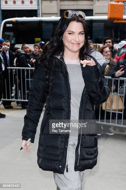 Singer Amy Lee leaves the 'AOL Build' taping at the AOL Studios on March 20 2017 in New York City