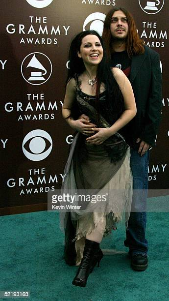 Singer Amy Lee of Evanescence and Shaun Morgan of Seether arrive to the 47th Annual Grammy Awards at the Staples Center on February 13 2005 in Los...