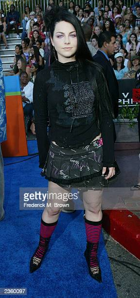 Singer Amy Lee of Evanescence arrives at The 2003 Teen Choice Awards held at Universal Amphitheater on August 2 2003 in Universal City California
