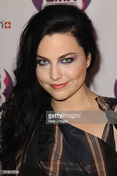 Singer Amy Lee of Evanescence attends the MTV Europe Music Awards 2011 at the Odyssey Arena on November 6 2011 in Belfast Northern Ireland