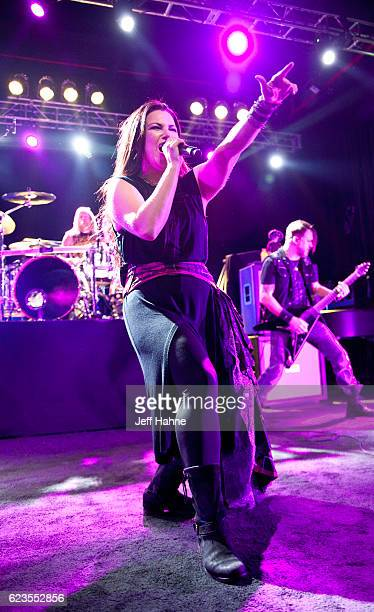 Singer Amy Lee of Evanescence performs at The Fillmore Charlotte on November 15 2016 in Charlotte North Carolina