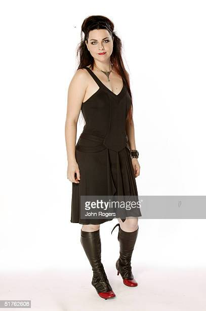 Singer Amy Lee of Evansescence poses for a studio portrait during the MTV Europe Music Awards 2004 at Tol di Valle November 18 2004 in Rome Italy