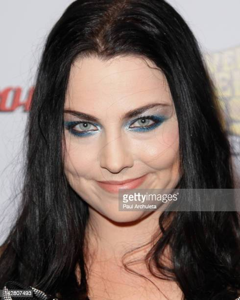Singer Amy Lee of the Rock Band Evanescence attends the 4th Annual Revolver Golden God Awards at Club Nokia on April 11 2012 in Los Angeles California