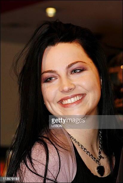 Singer Amy Lee of US rock group Evanescence at the Virgin megastore Champs Elysee In Paris France On November 08 2006