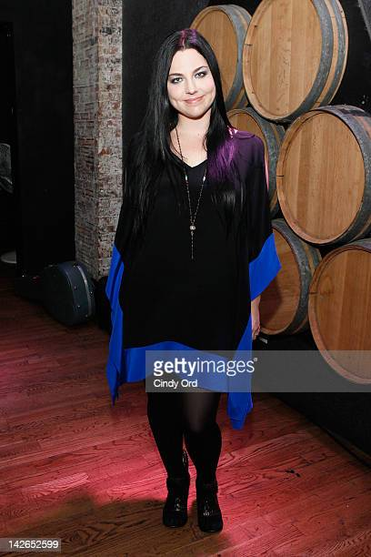 Singer Amy Lee poses backstage at the Restore Freedom Gala 2012 at City Winery on April 10 2012 in New York City