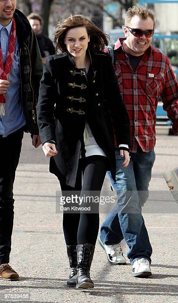 Singer Amy Macdonald arrives at the GMTV studio on the South Bank on March 8 2010 in London England