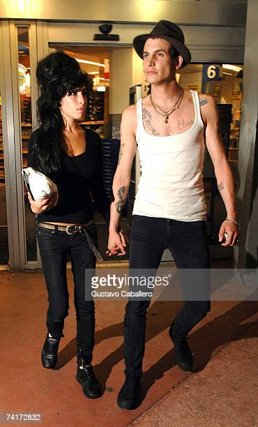 Singer Amy Winehouse and fiancee Blake FielderCivil leaving Walgreens on May 16 2007 in Miami Beach Florida