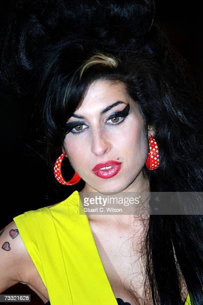 Singer Amy Winehouse arrives at the BRIT Awards 2007 in association with MasterCard at Earls Court on February 14 2007 in London