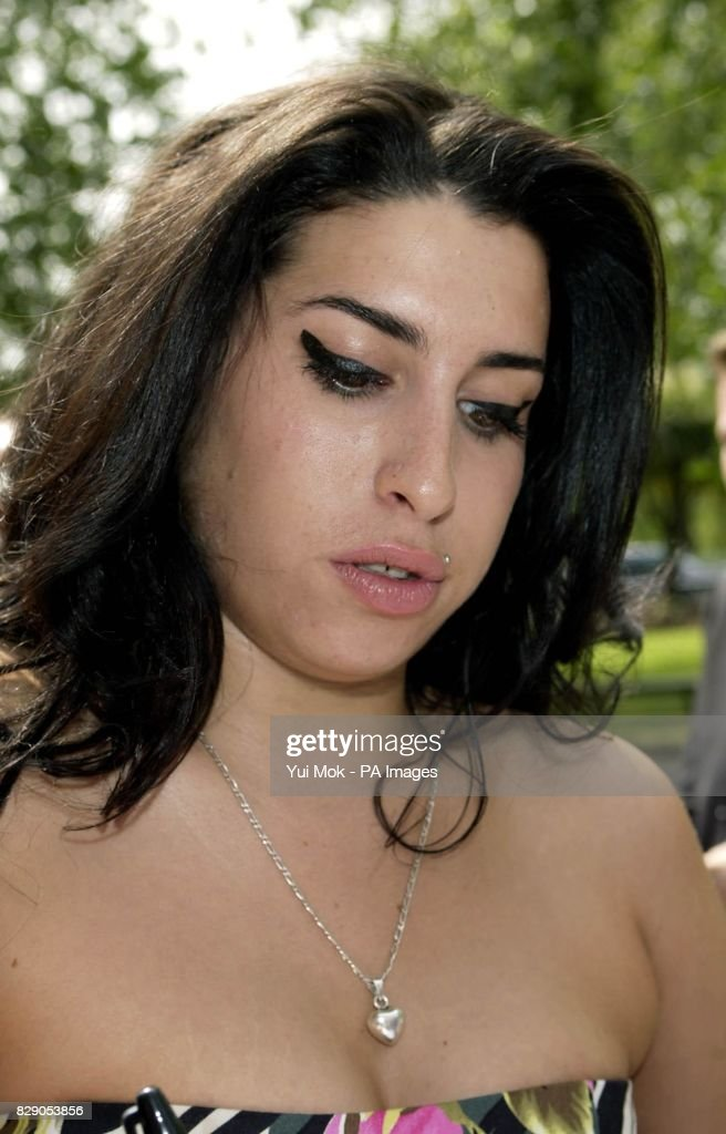 Singer Amy Winehouse Arrives For The Ivor Novello Awards At The
